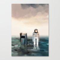 interstellar Canvas Prints featuring Interstellar by Reuno