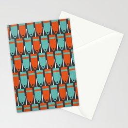Buoys, Orange & Blue Stationery Cards