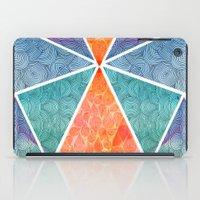 ale giorgini iPad Cases featuring Pyramids of Giza by Pom Graphic Design