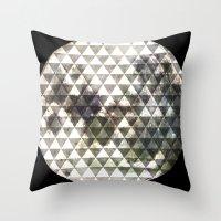 lunar Throw Pillows featuring Lunar. by Tyler Rice