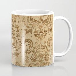 Oriental Damask Pattern Pastel gold Coffee Mug