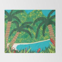 Tropical Island Getaway Throw Blanket