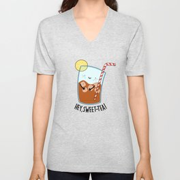 Sweet Tea Cute Drink Pun Unisex V-Neck