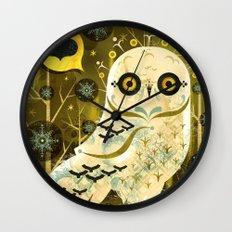 The Enamored Snail Wall Clock