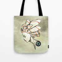 freeminds Tote Bags featuring Moth 2 by Freeminds