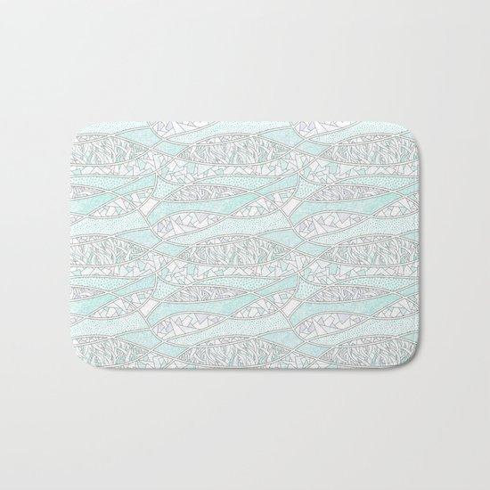 Abstract Mint Bath Mat