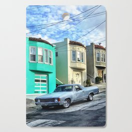 El camino on the slopes Cutting Board