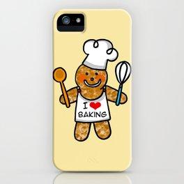 Gingerbread man bakery cookie baker iPhone Case