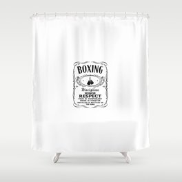 Boxing Logo Shower Curtain