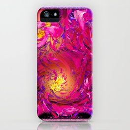 PEONY IN JUNE ABSTRACT iPhone Case