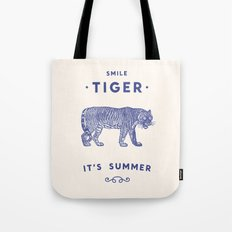 Smile Tiger, it's Summer Tote Bag