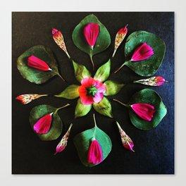 Pink and Green Mandala Canvas Print