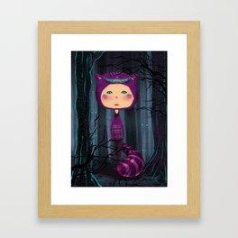 alice purple cat Framed Art Print