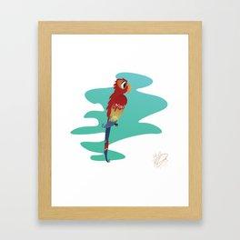 Little Parrot Framed Art Print