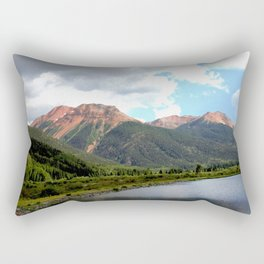 Red Mountains of the 1880's Gold Rush Rectangular Pillow