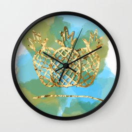 pineapple paradise Wall Clock
