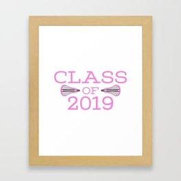 Class of 2019 Lacrosse - Pink Framed Art Print