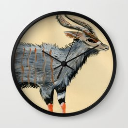Male Nyala Wall Clock