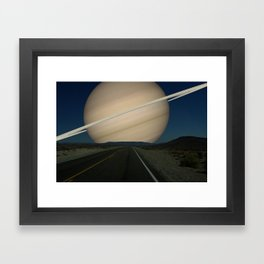 If Saturn replaced the Earth's Moon Framed Art Print