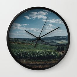 Vineyard in Tuscany, Italy Wall Clock
