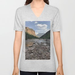 River of Rocks Unisex V-Neck