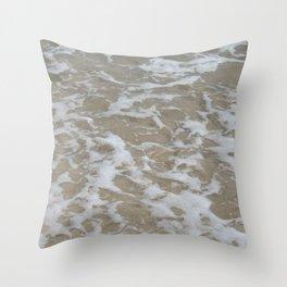 Foam of the ocean Throw Pillow