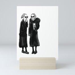 mary-kate n ashley 4 eva Mini Art Print