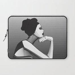 Black and White Female Laptop Sleeve