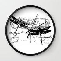 postcard Wall Clocks featuring Dragonflies postcard by Marion de Lauzun