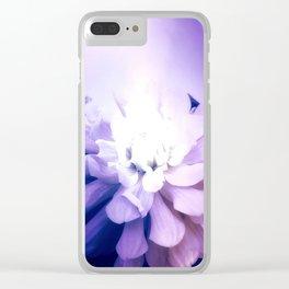 Dahlia, Felt As A Cold Flame Clear iPhone Case