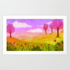 Spring Breeze Art Print