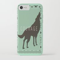courage iPhone & iPod Cases featuring Courage by Laura Santeler