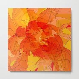 Autumn leaves - sketch Metal Print