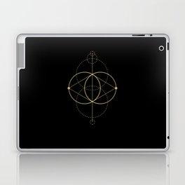 Gold Geometry machines black Laptop & iPad Skin