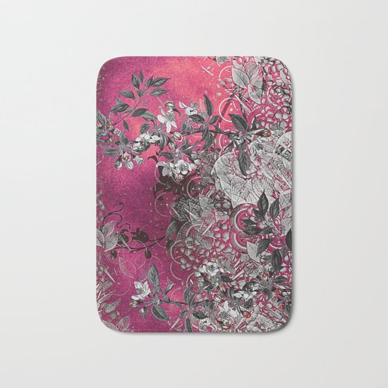 Pink Chinese Silk Bath Mat