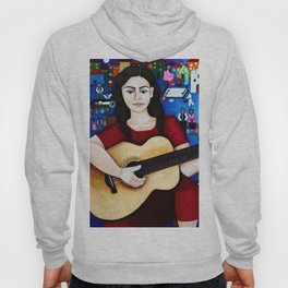 Violeta Parra and her guitar Hoody