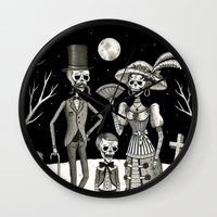 family Wall Clocks featuring Family Portrait of the Passed by Jon MacNair