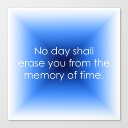 Memory of Time Canvas Print