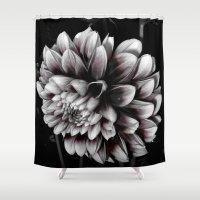 dahlia Shower Curtains featuring Dahlia by BavosiPhotoArt