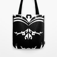 maori Tote Bags featuring Maori skull black & white  by Soso Creation