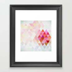 Abstract pink pastell triangle pattern- Watercolor illustration Framed Art Print