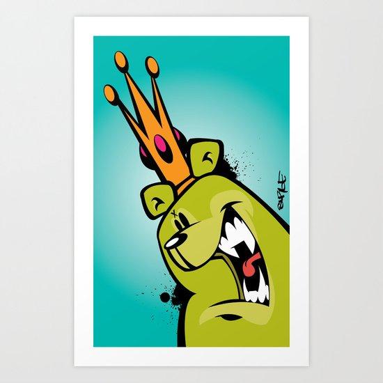 illsurge : King Of The Bombing Bears (2) Art Print