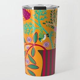 Wild Flowers and Silvereyes Travel Mug
