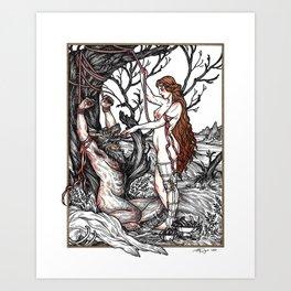 Wolf Skin Art Print