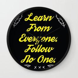 Follow No One Wall Clock