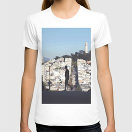 Silhouette from Near Lombard Looking Toward Coit Tower, San Francisco T-shirt