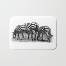 Three Zebras Bath Mat