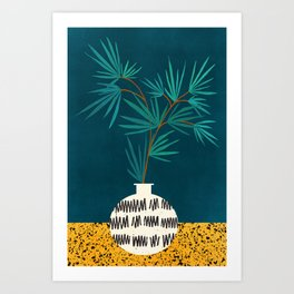 Night Palm / Night Scene Series Art Print