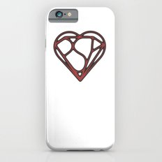 Psy Z Heart, Mind and Shield, Aged Red iPhone 6s Slim Case