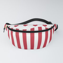Valentines Day popcorn - white and red Fanny Pack